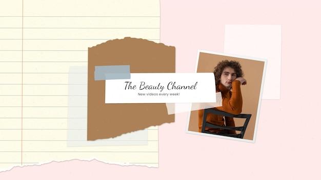 Arte vintage do canal do youtube de beleza