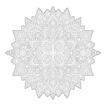 Arte zen com linear detalhada abstrata