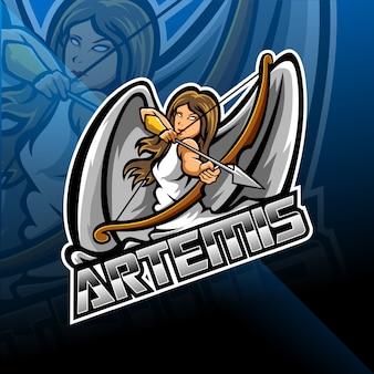 Artemis esport mascote design de logotipo