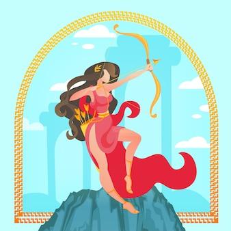 Artemis ou diana. virgem da mitologia grega antiga
