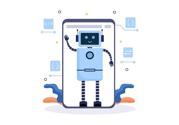 Artificial intelligence digital brain tecnologia e conceito de engenharia com dados de programador ou sistemas que podem ser configurados em um contexto científico. ilustração vetorial