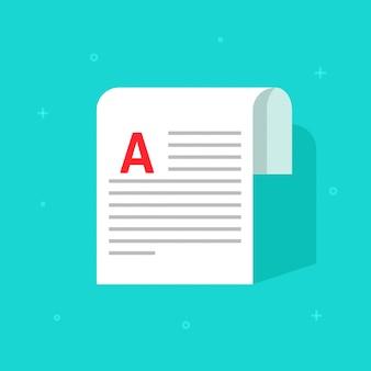 Artigo de folha de direitos autorais impresso ou página de nota