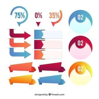 Artigos de decoração pronta para infográficos