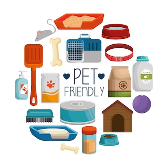 Artigos de loja de animais de estimação