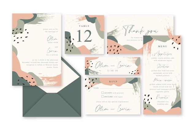 Artigos de papelaria bonitos do casamento da terracota