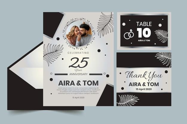 Artigos de papelaria de anos de aniversário de casamento