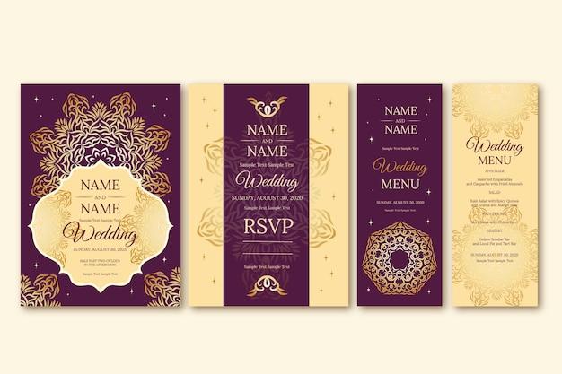 Artigos de papelaria elegantes para casamento