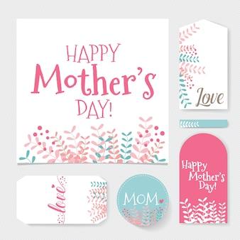 Artigos de papelaria felizes do dia de mãe