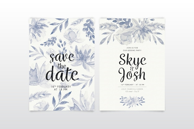 Artigos de papelaria floral do casamento