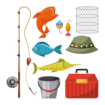 Artigos de pesca necessários