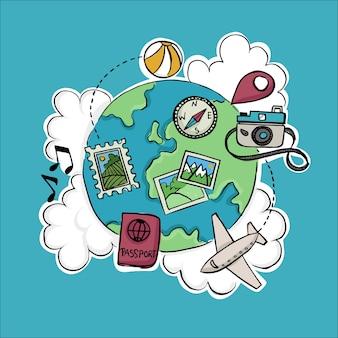 Artigos de viagem para o dia mundial do turismo