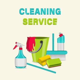 Artigos domésticos para limpeza.