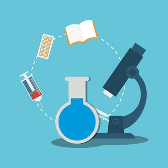 Artigos médicos do laboratório do tubo de ensaio do microscópio