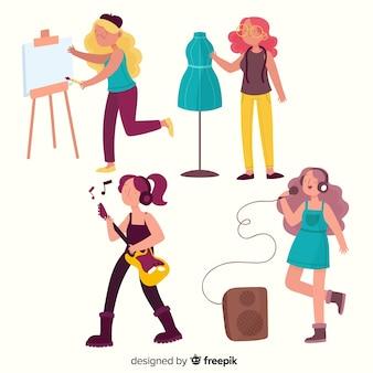 Artista no design plano de trabalho