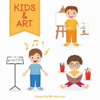 Artistas das crianças ajustados