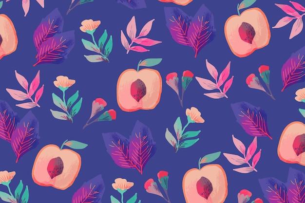 Artísticas flores coloridas desenhadas à mão