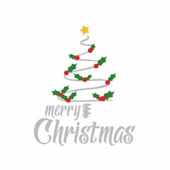 Árvore abstrata do feliz natal