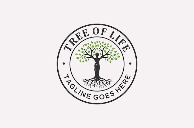 Árvore da vida ou design de logotipo de saúde mental.