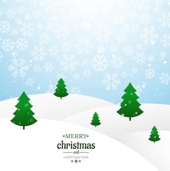 Árvore de cartão feliz natal com vetor de fundo glitters