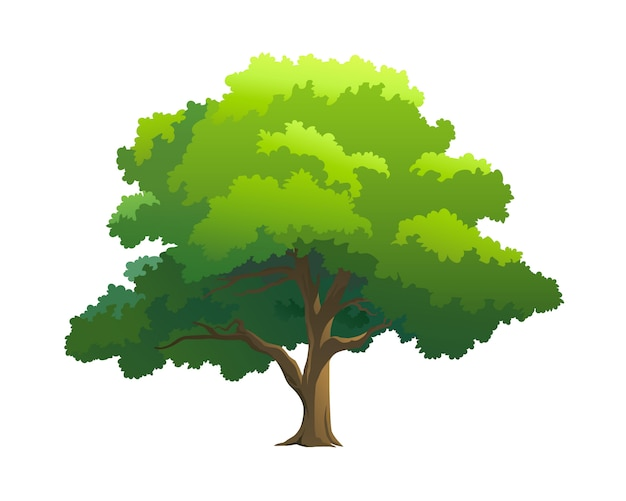 árvore de ilustração para desenhos animados