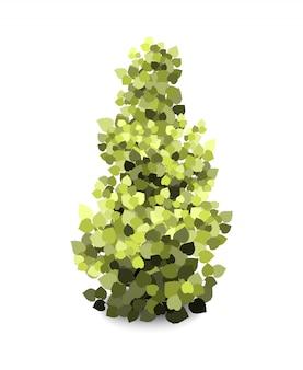 Árvore de jardim verde abstrata