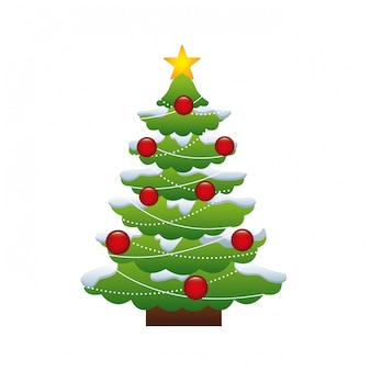 Árvore de natal alegre