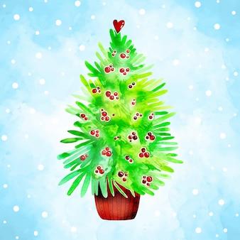 Árvore de natal aquarela