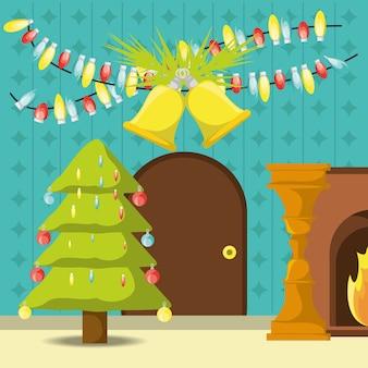 árvore de natal com design colorido de bolas decorativas