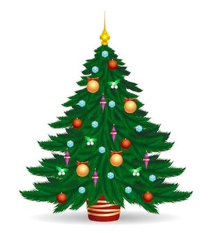 Árvore de natal com luzes brilhantes