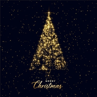Árvore de Natal de luxo feita com brilhos