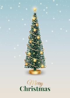 Árvore de natal decorada realista