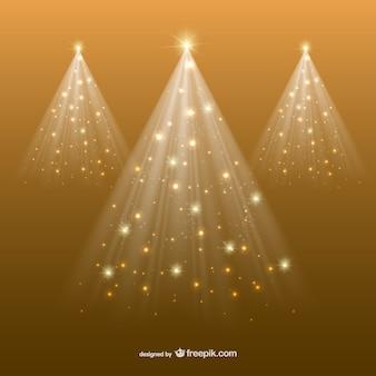 Árvore de natal dourada abstrata