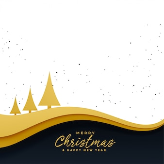 Árvore de natal dourada elegante fundo bonito