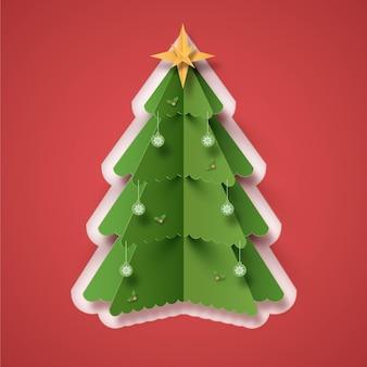 Árvore de natal em estilo de papel