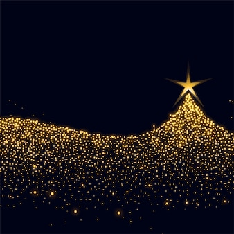 Árvore de natal feita com brilhos e glitter design