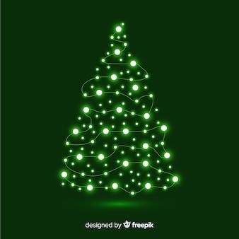 Árvore de natal feita de guirlanda de luz