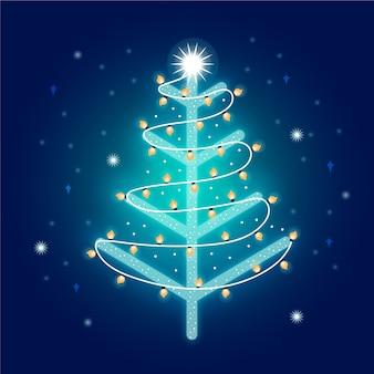 Árvore de natal feita de lâmpadas