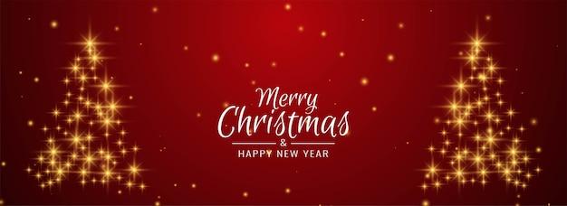 Árvore de natal glitters banner decorativo de feliz natal