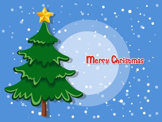 Árvore de natal na cor de fundo. feliz ano novo e elemento decorativo. ilustração vetorial.