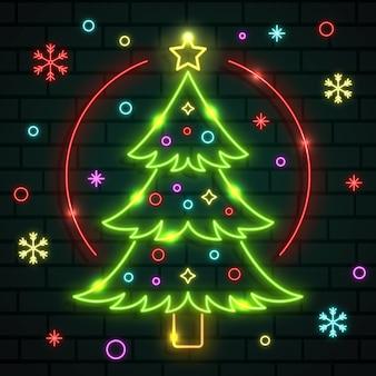 Árvore de natal neon
