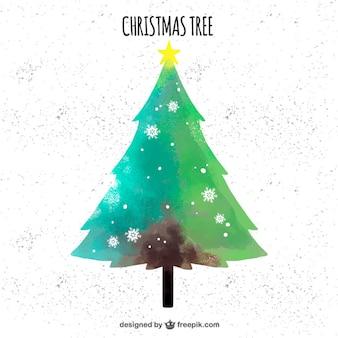 Árvore de natal no estilo do vintage