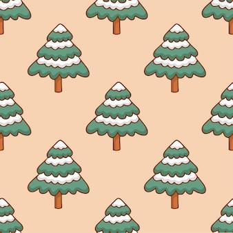 Árvore de natal padrão de fundo mídia social pós ilustração vetorial de decoração de natal