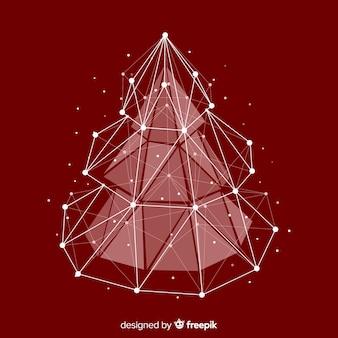 Árvore de natal tridimensional Vetor grátis