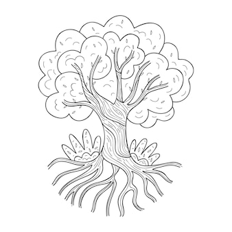 Árvore desenhada à mão