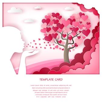 Árvore do coração com forma de mulher
