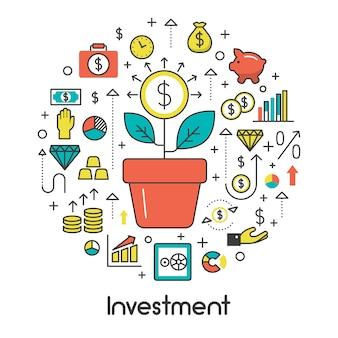 Árvore do dinheiro e elementos financeiros