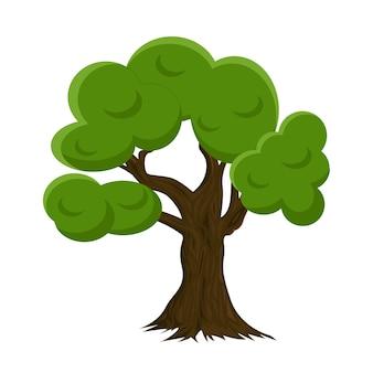 Árvore no fundo branco