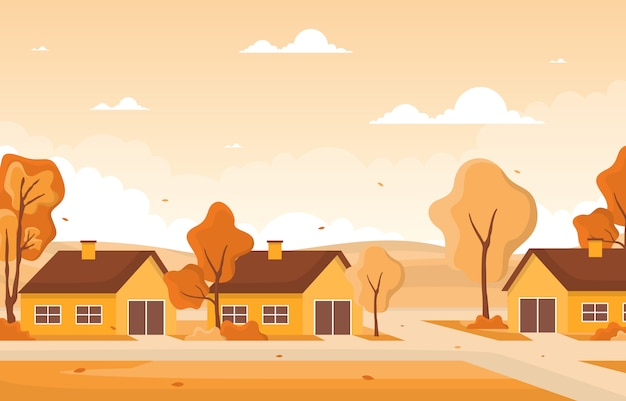 Árvore outono estação outono amarelo dourado natureza paisagem panorâmica