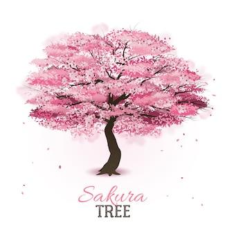 Árvore sakura realista