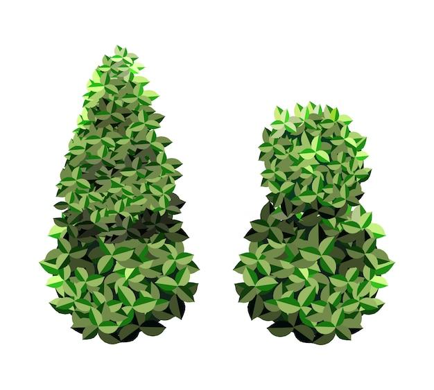 Árvores de jardim verdes abstratas